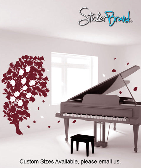 Vinyl Wall Decal Sticker Rose Bush Flying Paddles #GFoster159