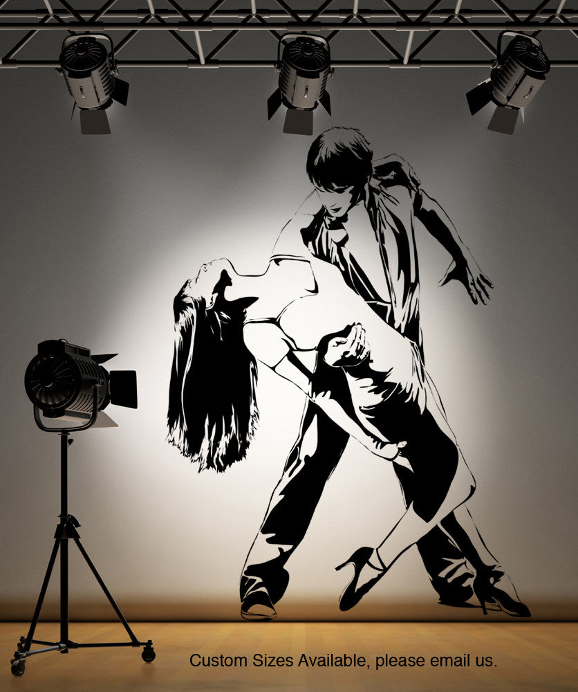 Vinyl Wall Decal Sticker Rhumba Dancer #AC185