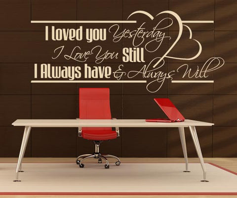 Vinyl Wall Decal Sticker Love Quote #BHuey118