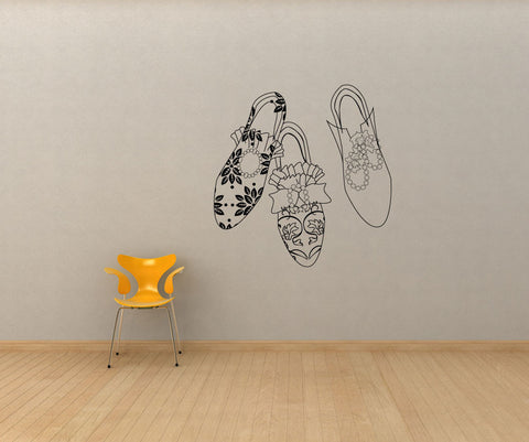 Vinyl Wall Decal Sticker Shoes #OS_MG252