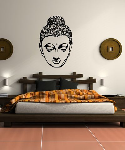 Vinyl Wall Decal Sticker Hindu Head Statue #OS_MB518