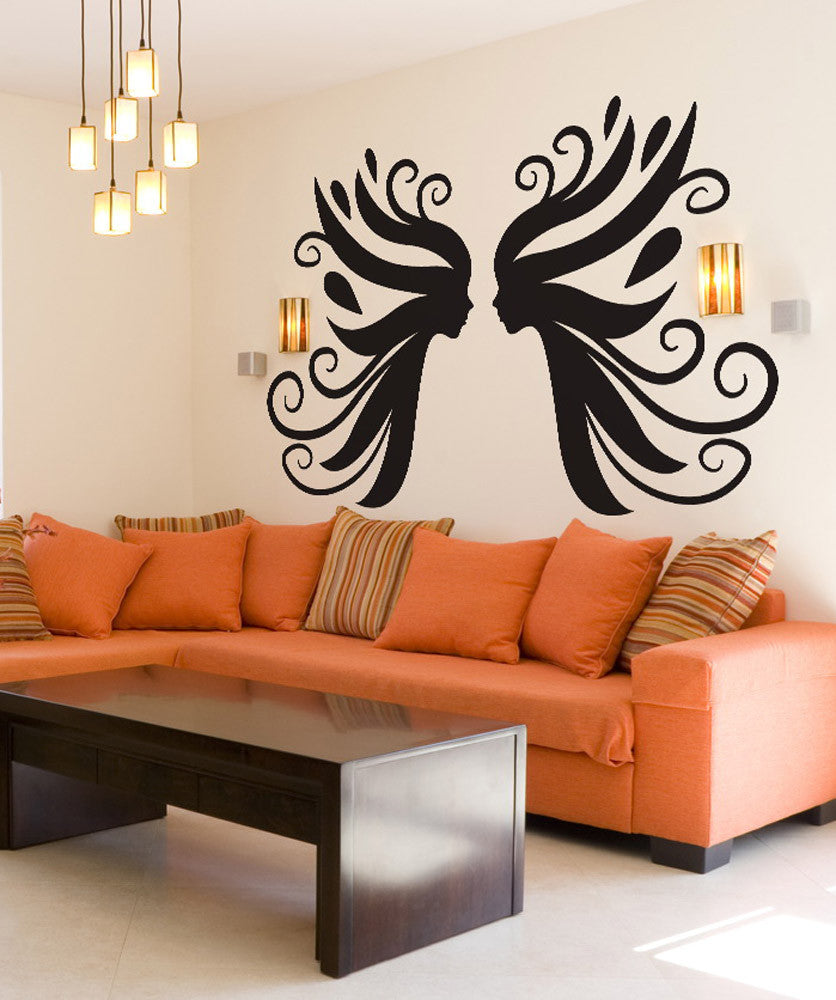 Vinyl Wall Decal Sticker Fairy Faces #OS_DC258