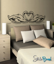 Vinyl Wall Decal Sticker Love Swans #OS_ AA103