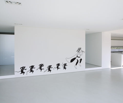 Vinyl Wall Decal Sticker The Pied Piper #OS_DC353