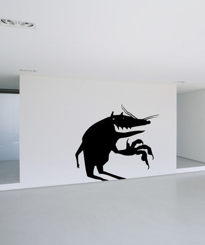 Vinyl Wall Decal Sticker Scary Rat #OS_MB472