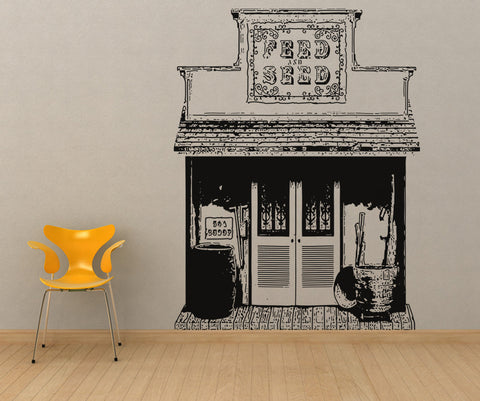 Vinyl Wall Decal Sticker Wild West Store #OS_AA438