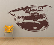 Vinyl Wall Decal Sticker Yellow Cab Hat #OS_AA562