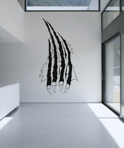 Vinyl Wall Decal Sticker Wall Slash with Claws #OS_AA421