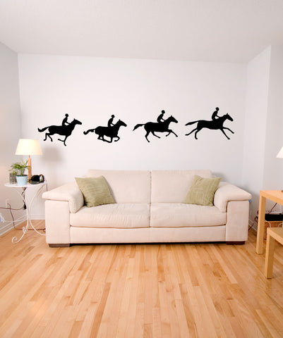 Vinyl Wall Decal Sticker Four Horses OS_MB426