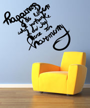 Vinyl Wall Decal Sticker Happiness Quote #OS_MB287