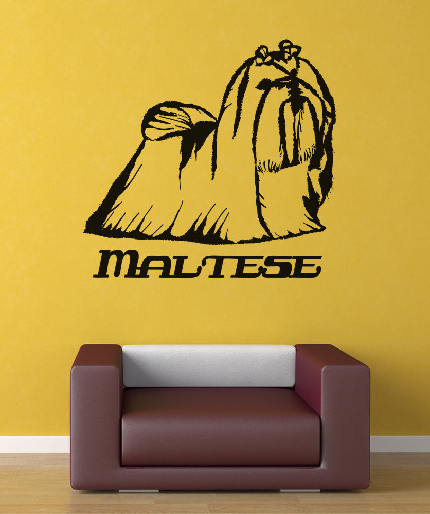 Vinyl Wall Decal Sticker Maltese #OS_AA626
