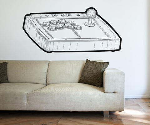 Vinyl Wall Decal Sticker 80's Video Game Controller #OS_AA459