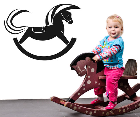Vinyl Wall Decal Sticker Designer Rocking Horse #OS_AA304
