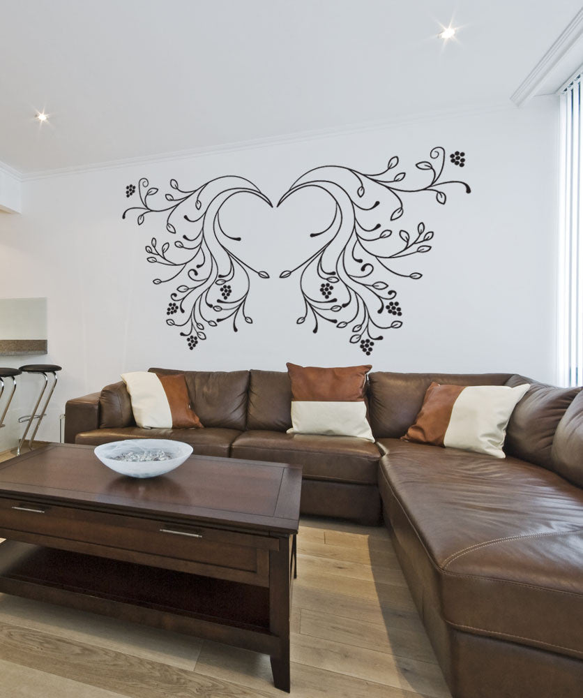 Vinyl Wall Decal Sticker Vine Wings Os Dc232