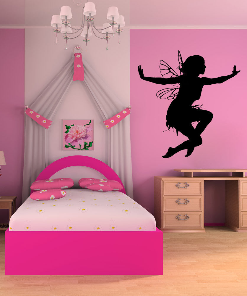 Vinyl Wall Decal Sticker Jumping Fairy #AC211