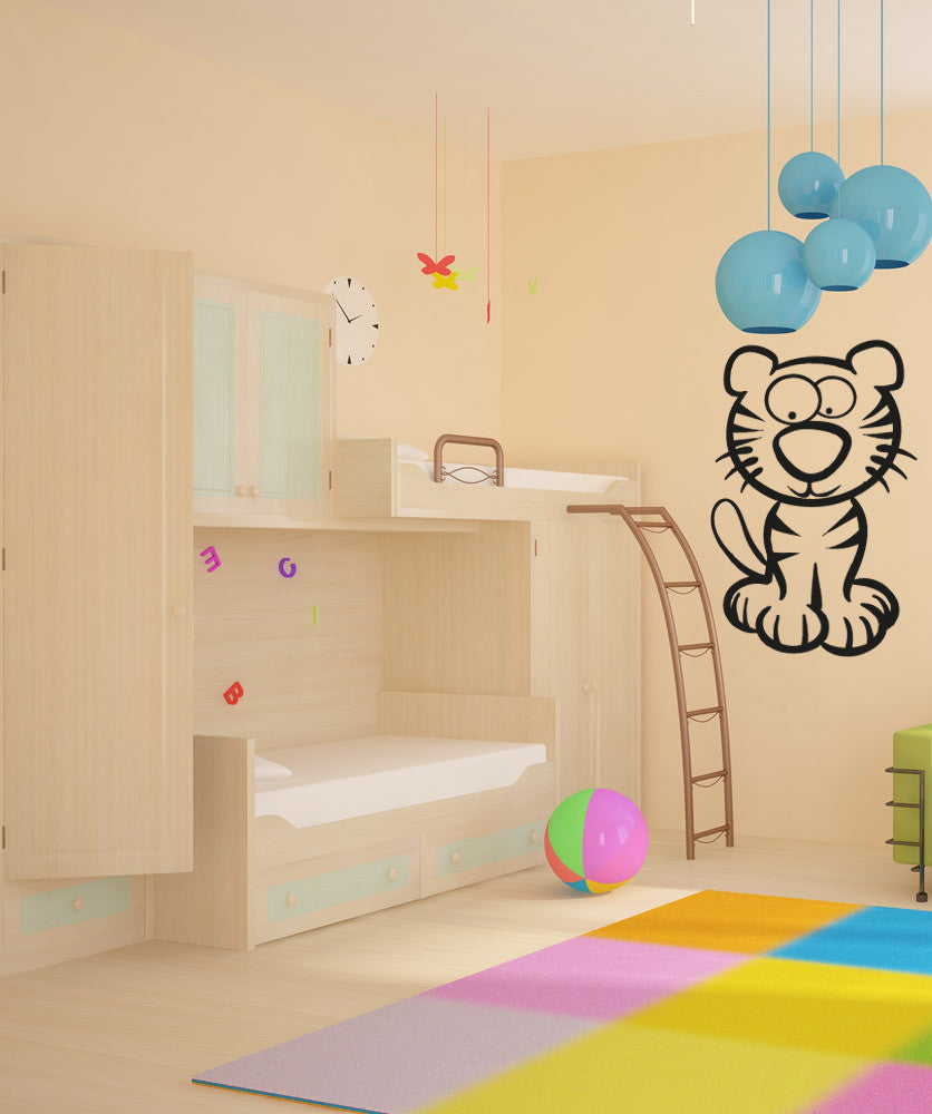 Vinyl Wall Decal Sticker Cartoon Tiger #OS_AA600