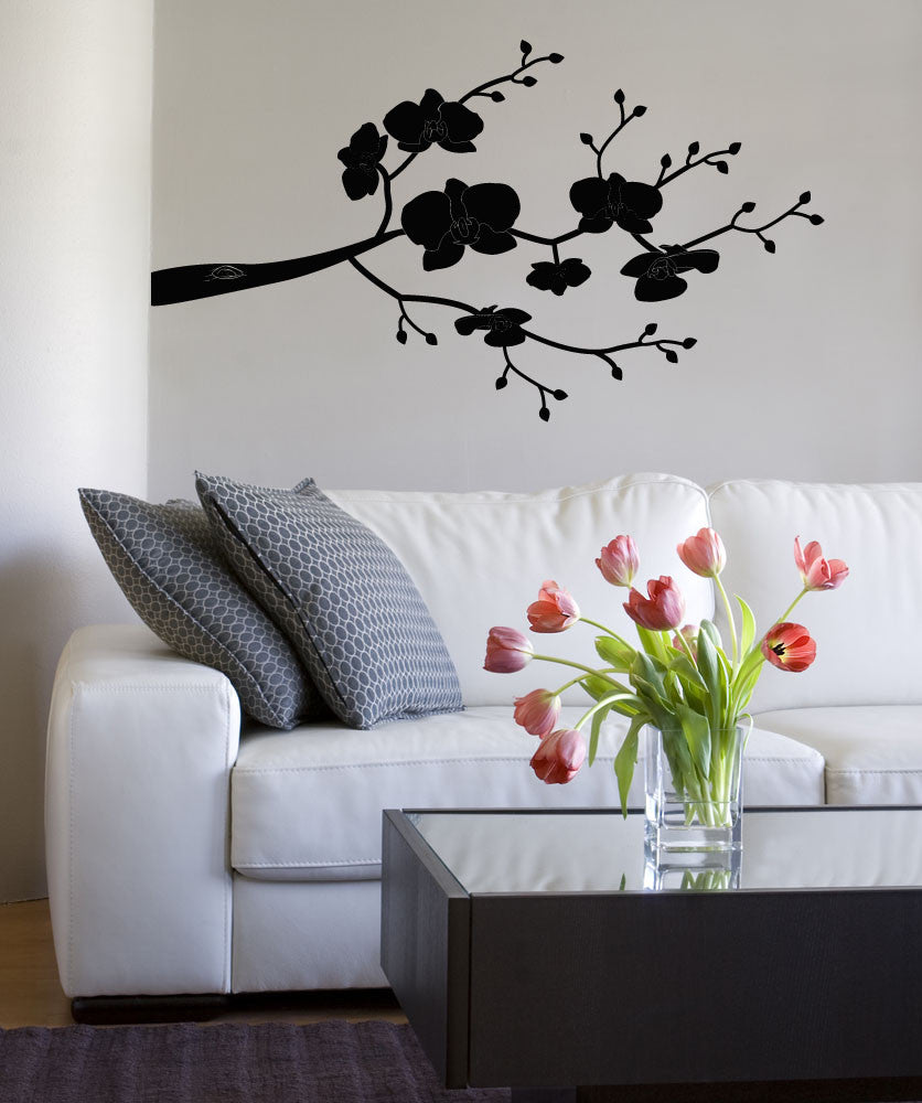Vinyl Wall Decal Sticker Orchid Item #OS_MB103