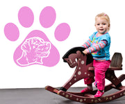 Vinyl Wall Decal Sticker Dog Paw #OS_AA575