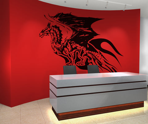 Vinyl Wall Decal Sticker Flying Dragon #OS_AA532