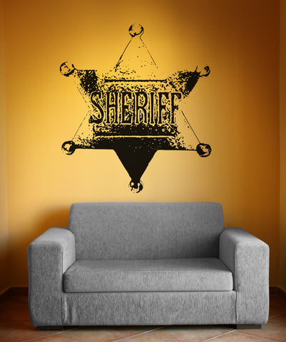 Vinyl Wall Decal Sticker Sheriff Badge #OS_AA411