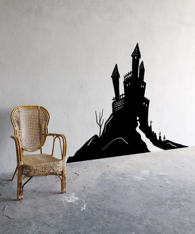 Vinyl Wall Decal Sticker Haunted House #OS_MB656