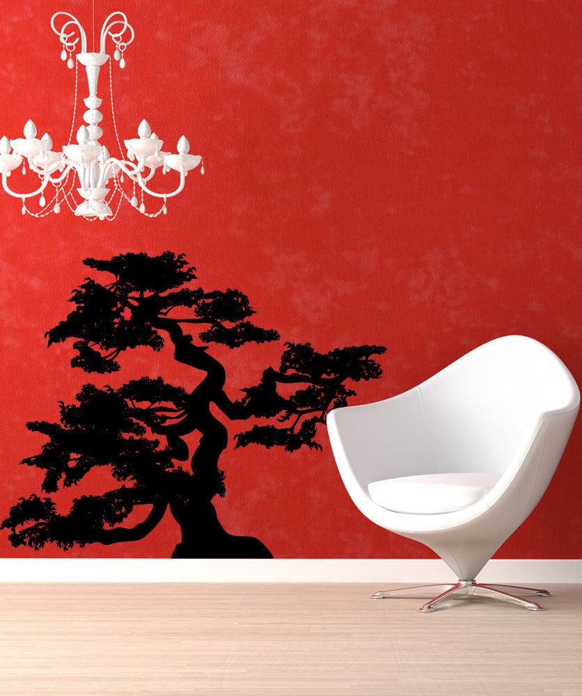 Vinyl Wall Decal Sticker Curvy Bonsai #AC202
