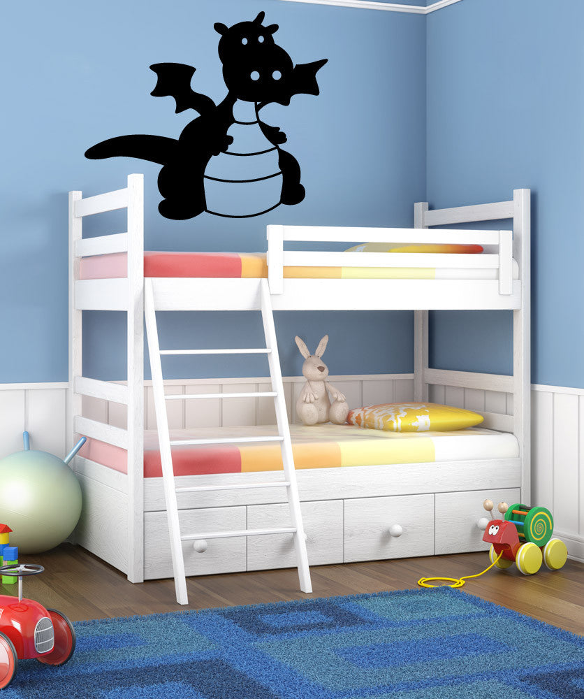Vinyl Wall Decal Sticker Baby Dragon #OS_MG325