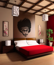 Vinyl Wall Decal Sticker 1970's Afro #OS_AA161