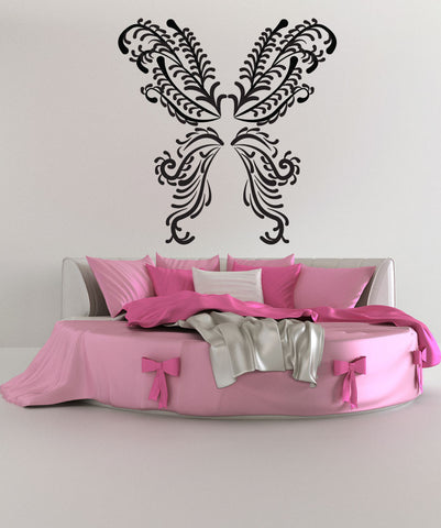 Vinyl Wall Decal Sticker Floral Butterfly #OS_DC235