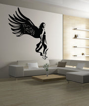 Vinyl Wall Decal Sticker Walking Angel #OS_DC257
