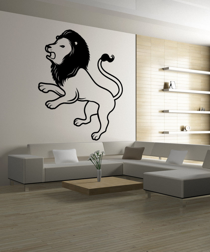 Vinyl Wall Decal Sticker Lion Profile #OS_MB455
