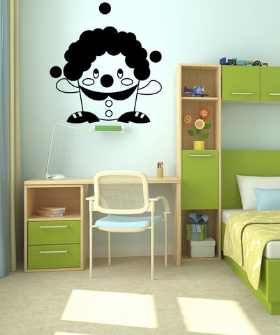 Vinyl Wall Decal Sticker Short Clown #OS_MG321