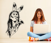 Vinyl Wall Decal Sticker Native American Old Man #OS_AA391