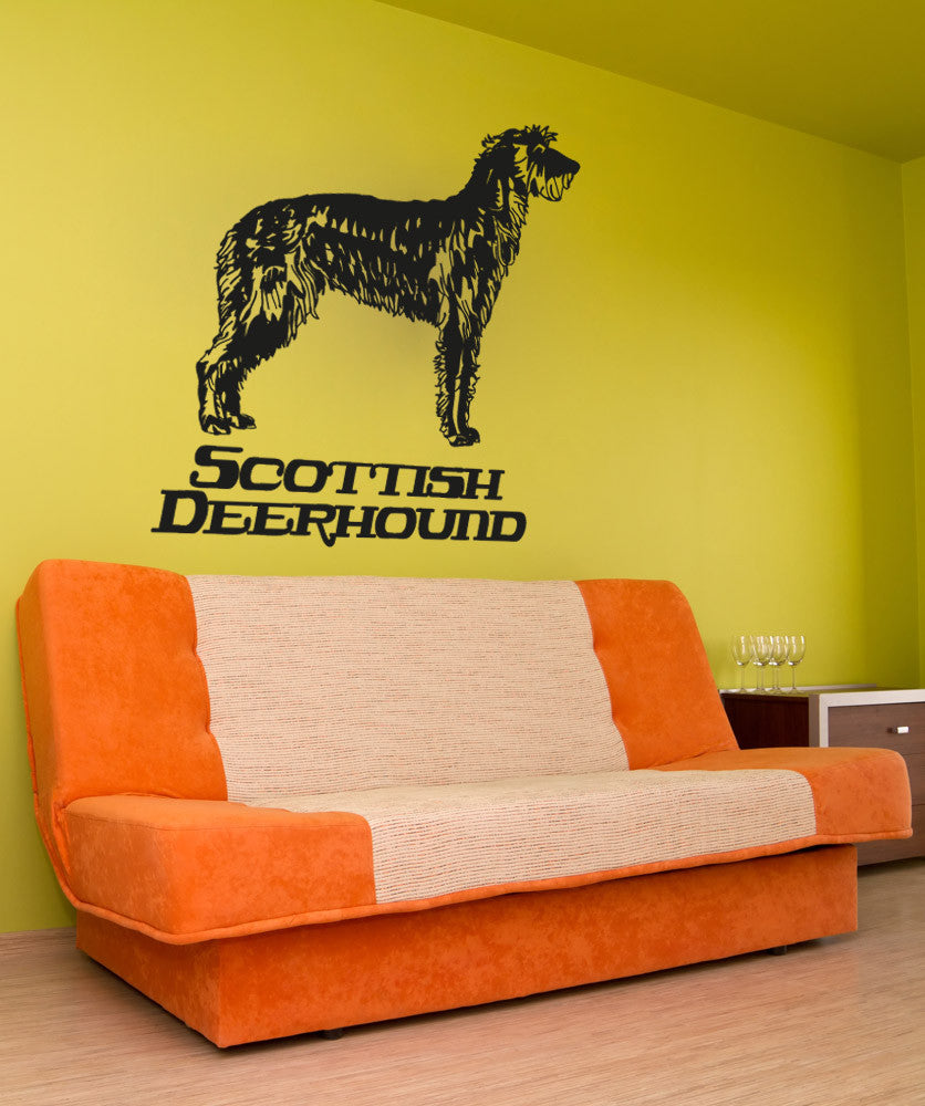 Vinyl Wall Decal Sticker Scottish Deerhound #OS_AA630