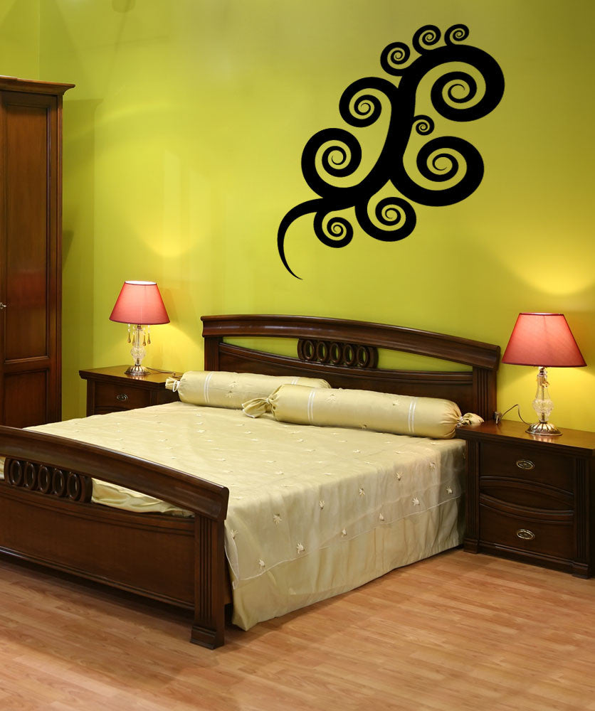 Vinyl Wall Decal Sticker Swirl Art #OS_MB481