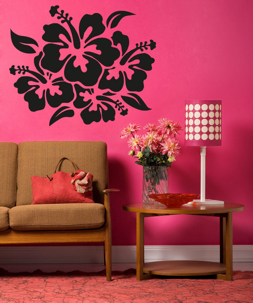 Hibiscus Flower Wall Decal Hibiscus Wall Stickers
