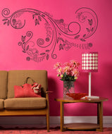 Vinyl Wall Decal Sticker Tulip Swirl #1007
