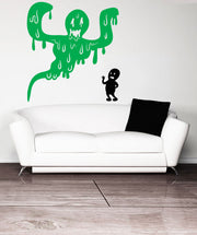 Vinyl Wall Decal Sticker Drippy Ghost #OS_MB415