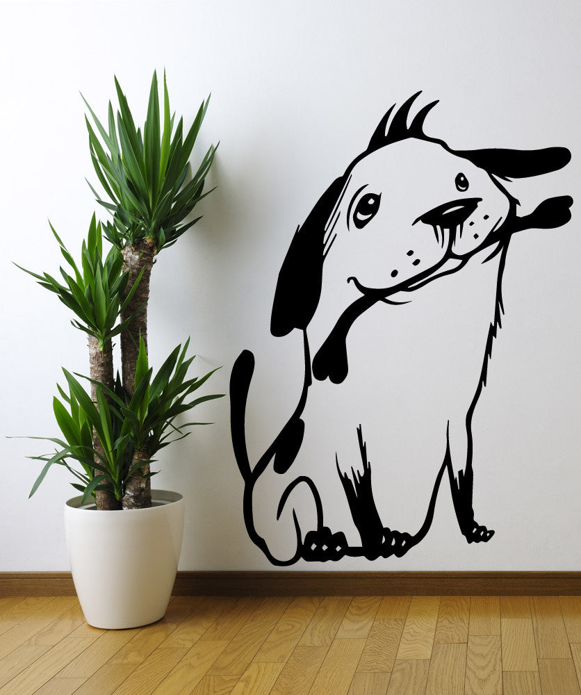 Vinyl Wall Decal Sticker Dog with Bone #OS_MB486