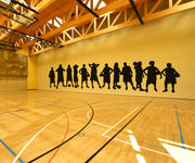 Women Basketball Team Wall Decals. #OS_AA501