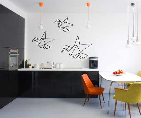 Vinyl Wall Decal Sticker Origami Flock #OS_MG309
