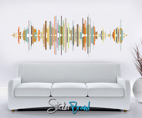 Graphic Wall Decal Sticker Sound Wave #GWray107