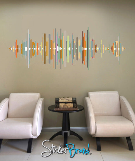 Graphic Wall Decal Sticker Sound Wave Gwray107