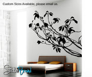 Vinyl Wall Decal Sticker Tree Branches Leaves #AC138