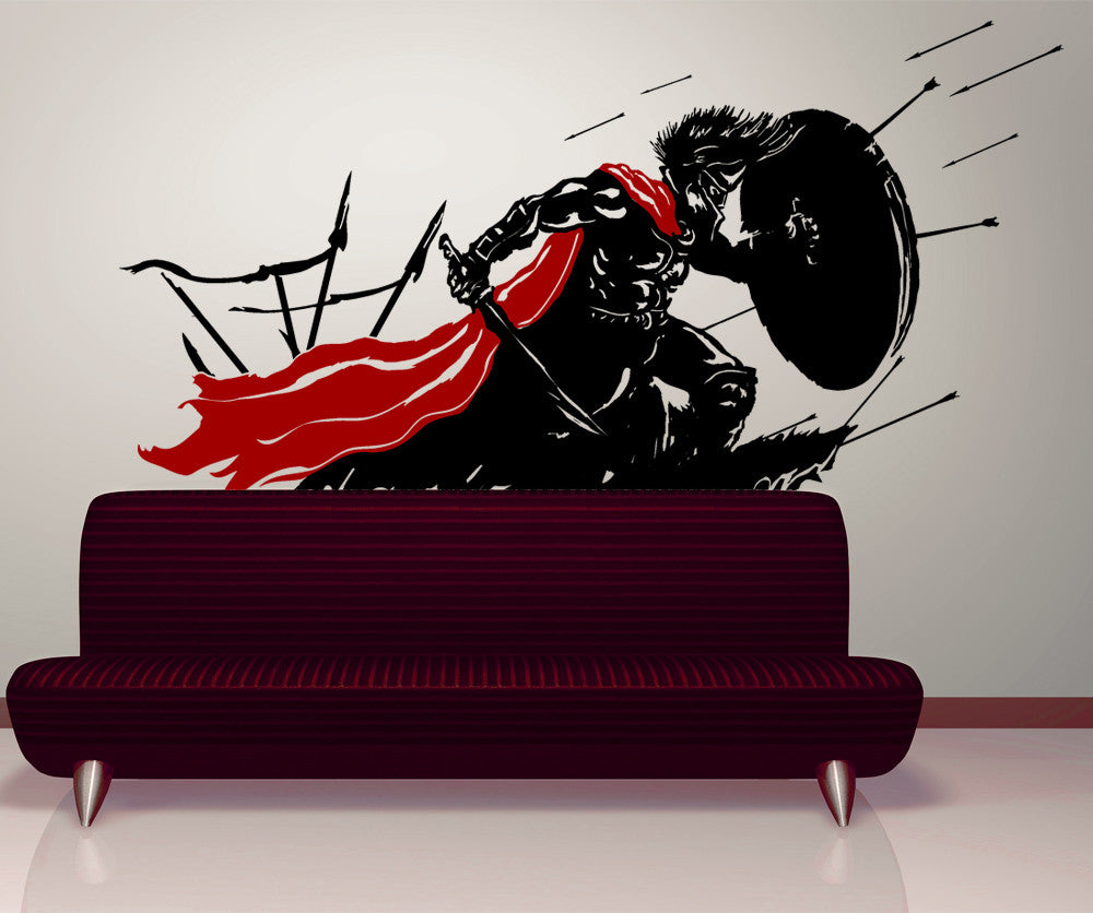 Vinyl Wall Decal Sticker Spartan in Battle #GFoster178