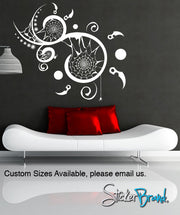 Vinyl Wall Decal Sticker Spiral Web #GFoster115