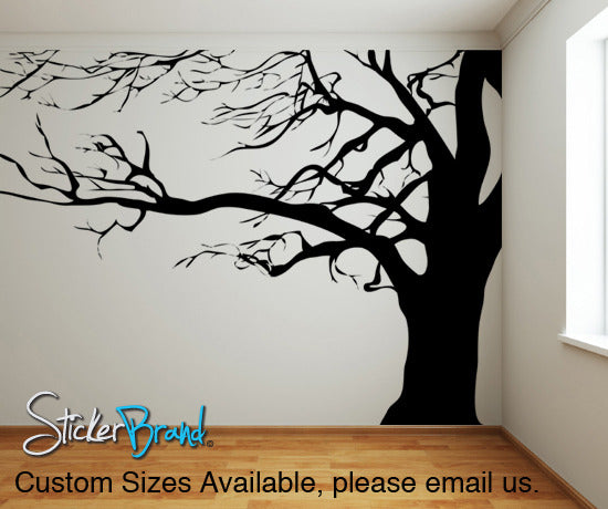 Superior Vinyl Wall Decal Sticker Large Spooky Tree #AC122