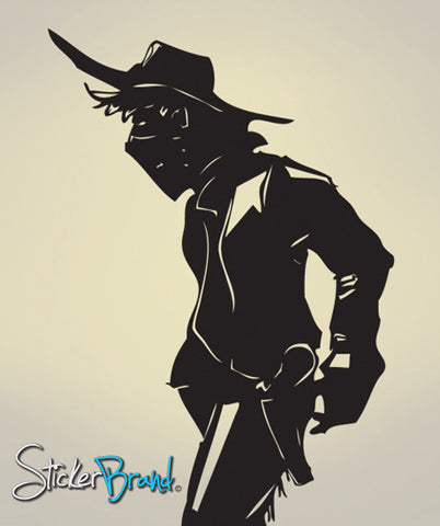 Vinyl Wall Decal Sticker Cowboy Stand Off #JH163