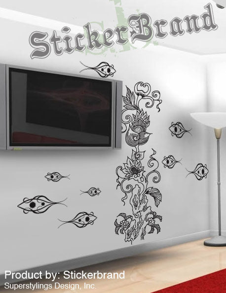 Vinyl Wall Decal Sticker Exotic Deep Sea Coral Reef 341