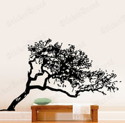 Vinyl Wall Decal Sticker Leaning Tree Cover #385